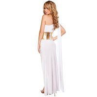 Wholesale Sexy Cleopatra Costumes - Accessories Cosplay Costumes SESERIA Black White Sexy Egyptian Queen Cleopatra Costume Women Halloween Costumes for Adults Long Dress