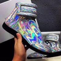 Wholesale waterproof walking shoes men - High Quality Maison Martin Margiela High Top Sneaker Shoes Men's Walking Flats Shoes,Fashion MMM Trainers Kanye West Casual Leisure Shoes