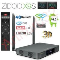 Wholesale Europe Bluetooth - Zidoo X9S Android 6.0 Smart TV Box 2GB 16GB Realtek RTD1295 Quad-Core Mini PC 2.4G 5.0G Wifi Bluetooth 4.0 HDMI IPTV Europe Media Player