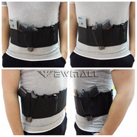 Wholesale Band Hand Gun - Adjustable Tactical Concealed Carry Belly Band Pistol Gun Holster With Double Magazine Pouches fit for both hand