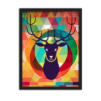 Wholesale Details about Unframed Canvas Prints Modern Home Decor Wall Art Painting Picture Colorful Deer For Living Room No Framed