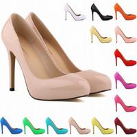 Wholesale Q Dress - 2017 Hi-Q 13 Colors Womens High Heels Pointed Corset Style Pumps Work Women Shoes