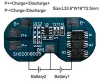Wholesale Battery Lipo 2s - Wholesale- 10PCS LOT Protection Circuit Module 2S 7A BMS PCM PCB Battery Protection Board For 7.4V Li-ion lipo Battery Cell Pack