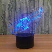 carregue a bateria do helicóptero venda por atacado-3D Helicóptero Ilusão Lâmpada Night Light DC 5 V USB de Carregamento 5a Bateria Atacado Dropshipping Frete Grátis Caixa de Varejo
