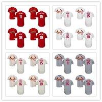 Wholesale St 15 - St. Louis Cardinals 2017 Baseball Jerseys 11 Paul DeJong 15 Randal Grichuk 16 Kolten Wong 18 Carlos Martinez Flex Base Jerseys Size S-6XL