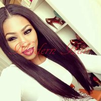Wholesale Good Cheap Lace Front Wigs - Cheap 16-26inch good quality synthetic silky straight lace front wig full lace wig heat resistant Swiss Lace For Black Women free shipping