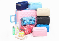 Wholesale deck bag - Double Deck Space Waterproof Cosmetic Packege Multi Function Business Affairs Home Travel Storage Bag Oxford Wash Bags 8 8bh J R