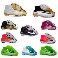 Wholesale Best Indoor Soccer Shoes - Best 2017 Top Quality Mercurial Superfly V FG AG CR7 Mens Soccer Shoes Soccer Cleats Magista Obra Football Shoes 39-45