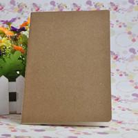 boş not defterleri toptan satış-A5 Boş İç Sayfa Bloknotlar Inek Derisi Kağıt Dizüstü Katı Renk Lekelemek Klasik Not Defteri Basit Dizüstü Fabrika Doğrudan Satış 1 4jc R