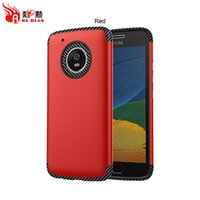 Wholesale Nice Red Rose - Hot Color Carbon Fibre Soft TPU With Matt Nice Hand Feeling Combo Armor Case For Moto G5 G5Plus Hybrid Cover
