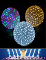 Wholesale Led Holiday Flower Lights Outdoor - Holiday Lighting 10CM 50LEDs Colorful Flower Ball Waterproof Light Fairy Garland Decor Lamps Outdoor Christmas LED Decoration MYY