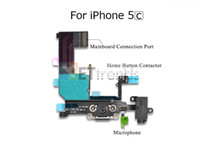 Wholesale iphone 5c charging resale online - Original Charging Port Audio Flex Cable for iPhone C USD Dock Port Audio Cable Replacement Repair Parts Black by DHL