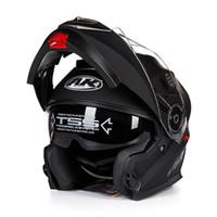 Wholesale full face visors - New Arrivals AK moto Flip Up Motorcycle Helmet Modular With Inner Sun Visor safety Helmet double lens racing casco capacete