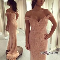 Wholesale Sexy Silk Wear - Off Shoulders Sweetheart Sparkle Mermaid Prom Dresses 2018 Lace Beaded Appliques Long Formal Evening Gowns Fashion Occasion Wear