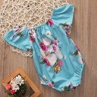 Wholesale Toddlers Ruffle Rompers Wholesale - Baby Girl Clothes Toddler Ruffle Romper Suit Newborn Onesies Infant Jumpsuit Kids Leotards Porn Roupas Rompers Next Children Outfit