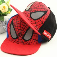 Ball Cap spiderman fitted hat - 3 Years Fashion Boys Kids Children Cartoon Spiderman Baseball Caps Snapback Adjustable Children s Sports Hats Fit For cm