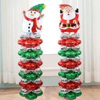 Wholesale Aluminum Christmas Tree Wholesale - Merry Christmas Santa Claus Christmas Snowman Aluminum Coating Balloon Foil Balloon Christmas Tree Party Room Wall Decorative Supplies Gift