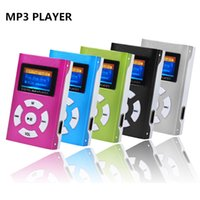 Wholesale portable media speakers - Wholesale- New Portable Shiny Mini USB LCD Screen MP3 Media Player Support 32GB Micro SD Card Sports MP3 Music Player MP3 WMA Suppion