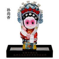 Wholesale Chinese Female Doll - The Q version of the cartoon opera dolls Chinese traditional crafts sculpture sculpture business gifts gifts to go abroad