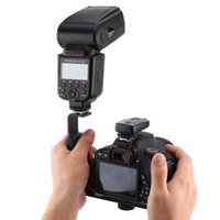 Support de montage flash dslr caméra Avis-Photographie Video Flash Camera Grip L Support Support avec 2 Standard Side Hot Mount Support DSLR Holder