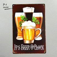 DL-IT'S BEER O'CLOCK Arredamento retrò Home Bar Parete del partito Divertente film Poster Pittura Regalo