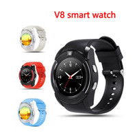 Original Sport Watch Pantalla completa Smart Watch V8 para Android Compatibilidad con teléfonos inteligentes TF tarjeta SIM Smartwatch Bluetooth PK GT08 U8 DZ09