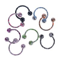 Sourcils Chirurgicaux En Acier Pas Cher-8pcs / lot Surgical Steel Captive Bead Ring BCR Punk Style Nose Ear Eyebrow Lip Nipple Penis Clicker Septum Piercing Body Jewelry