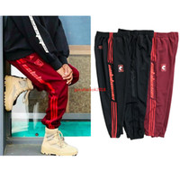 Wholesale Seasons Star - Kanye West Unisex Jogger Pant Red SEASON 4 Star Pants For Jogging Exercise and Fitness For Man Woman