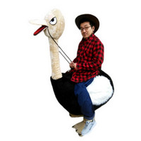 Wholesale Ostrich Mascot Costumes - Riding an ostrich man Mascot Costumes Cartoon Character Adult Sz 100% Real Picture