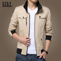 Wholesale Men S Short Jacket Style - Wholesale- LILL | Cotton Jacket Coat Men Slim Motorcycle Bomber Jacket 2017 Spring Khaki Male Casual Jackets Style Veste Windcheater,UMA405