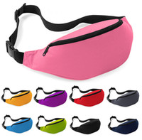 Wholesale Red Fanny Pack - Free shipping 12pcs lot High Quanlity Fashion Pure Unisex Bag Travel Handy Hiking Sport Fanny Pack Waist Belt Zip Pouch