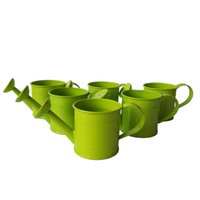 Wholesale Mini Pails Wedding - Free Shipping Metal Favor Pail Mini Small Watering can sharp pure bucket flower easter egg pot wedding gift green