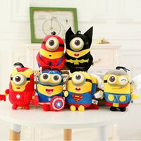 Wholesale Despicable Stuffed - The Despicable Me Plush Toys Super Hero The Avengers Stuffed Doll Captain America Iron Man Spider-man Thor Batman Kids Christmas Gift