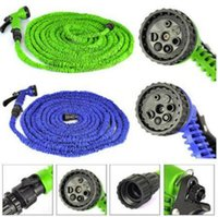 Wholesale watering hoses for gardens - 25FT FT FT Expandable Flexible Garden Water Hose Garden Hose For Car Water Pipe Plastic Hoses To Watering With Spray CCA6701
