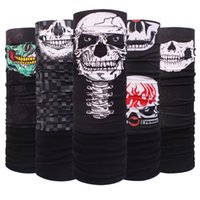 Wholesale Multifunctional Printed Seamless Bandana - Motorcycle Tube Scarf Headwear Skull Face Shield Outdoor Magic Seamless Bandana Multifunctional Headwear Scarves