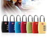correas de equipaje cerraduras al por mayor-TSA335 TSA338 Luggage Strap Locks Digit Plastic Aleación Contraseña de bloqueo Aduanas Equipaje Candado Combinación Maleta Candado Equipaje