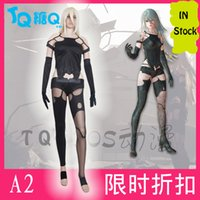 Gioco NieR Automata DLC Cosplay YoRHa No. 2 Tipo B 2B Costume Cosplay Donna Halloween Set completo Custom Made