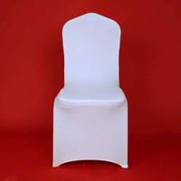 ingrosso sedie del partito della porcellana-100pcs Hotel Lycra Stretch Party Coprisedie in Spandex Poliestere bianco Wedding Ivory copertura della sedia Dalla Cina Fabbrica 20170629 #