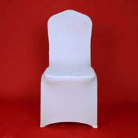 Wholesale Ivory Spandex Chair Covers - 100pcs Hotel Lycra Stretch Party Spandex Chair Covers White Polyester Wedding ivory Chair Cover From China Factory 20170629#