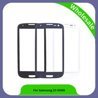 Wholesale Galaxy S3 Front Lens Replacement - 4.8 inch For Samsung Galaxy S3 i9300 i9305 I747 Touch Panel Glass Front Outer Glass Lens High Quality New Replacement