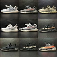 Wholesale Copper Rubber - SPLY 350 Boost V2 2017 Newest Frozen Yellow Blue Tint Beluga 2.0 Black Red Copper Green Bred BY9612 BY1605 Boost 350 Running Shoes With Box