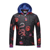 ingrosso uomini in velluto in nylon con cappuccio-NUOVA giacca con zip staccabile e cappuccio staccabile con cappuccio regolabile in nylon floreale floreale spaziale serpente stampato in 3D