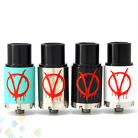 Wholesale Vendetta Dhl - Vaporizer Mini VFOR VENDETTA RDA Atomizer EAger Authentic Vfor Vendetta RDA V2 Fit 510 Mods Adjustable Airflow V for Vendetta RDA DHL Free