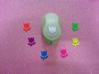 Wholesale Paper Punchers - Wholesale- free ship 1 inch tulip flower craft punch for Scrapbook handmade flower punch eva foam maker scrapbook punchers paper punch