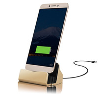 Wholesale Docking For Galaxy S4 - 2 in 1 Universal Micro USB Charging Dock Desktop Charger for Samsung Galaxy S4 S6 S7 Edge A5 A7 for Android Phones Charger