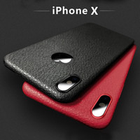 Wholesale Slim Luxury Leather Case - Ultra-Slim Lightweight Luxury Business Simple Style Leather Feel TPU Case for iPhone X   10