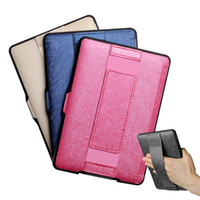 Wholesale Paperwhite Cases - Wholesale- One Hand Control Leather Case for Kindle paperwhite 2016 8th Generation e-reader Texture PU cover Free Shipping