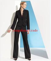 Wholesale Woman Business Pants Suits - Black Women Business Suit Designer Women Suit Custom Made Lady Suit 494