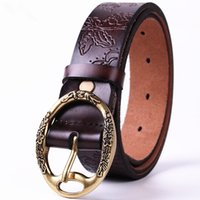 017 New Fashion Retro Belts Femmes Casual Embossing Ceinture en cuir véritable Filles All-match Pin Buckle Femme cmcintos femenino vente chaude