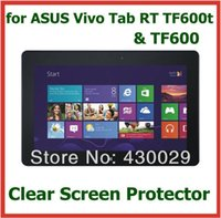 Wholesale Vivo Tab Screen - Wholesale- 10pcs Ultra Clear Screen Protector Protective Film for Asus Vivo Tab RT TF600 TF600t No Retail Package Size 257*165mm